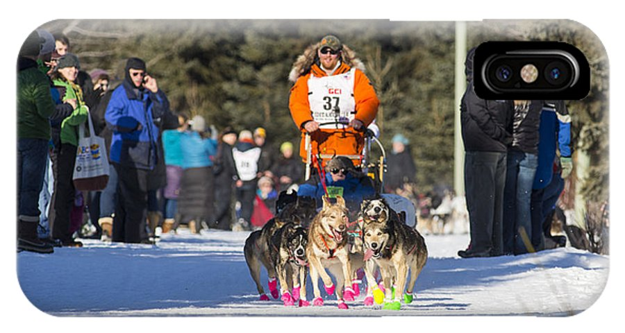 2014 Iditarod IPhone X Case featuring the photograph Fast Booties by Tim Grams