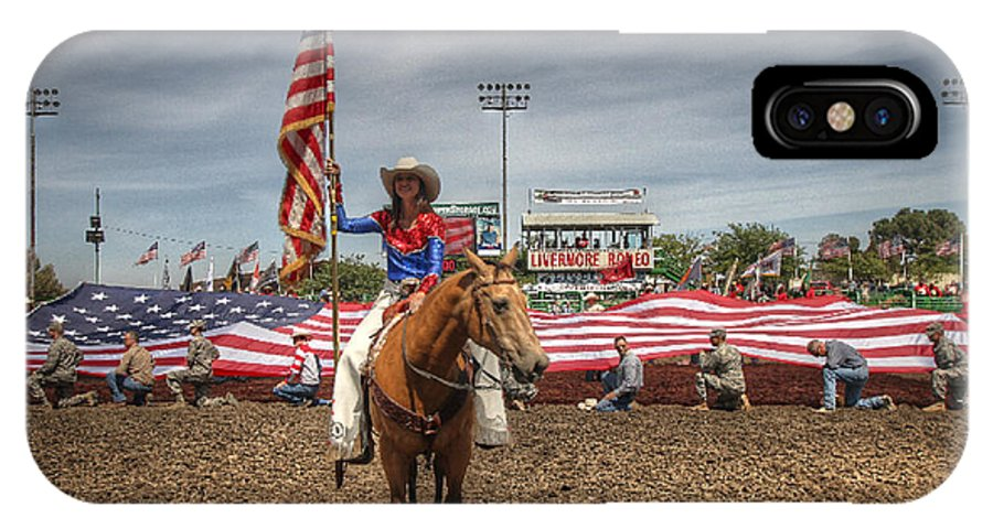 Opening Ceremony. Livermore Rodeo IPhone X Case featuring the photograph Fastest Rodeo On Earth by John King