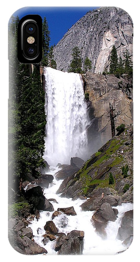 Yosemite IPhone X Case featuring the photograph Favorite Waterfall by Barbara Stellwagen
