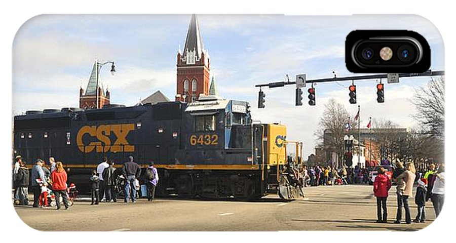 Fayetteville IPhone X Case featuring the photograph Fayetteville Christmas Parade by Matt Plyler