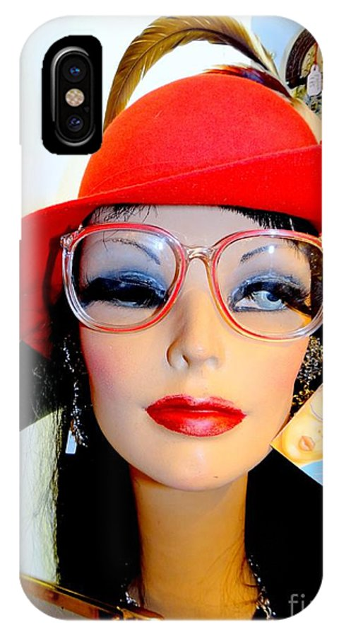 Mannequins IPhone X Case featuring the photograph Feather In Her Cap by Ed Weidman