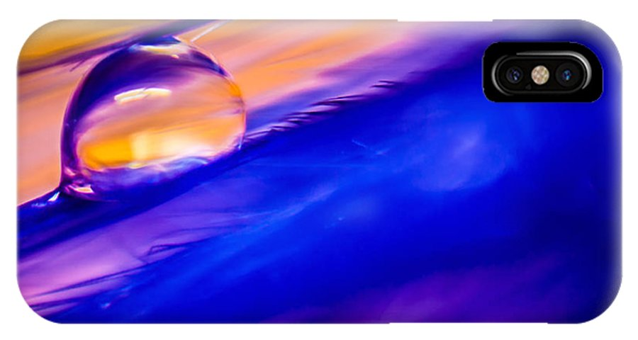 Feather IPhone X Case featuring the photograph Feather Sunset by Lauri Novak