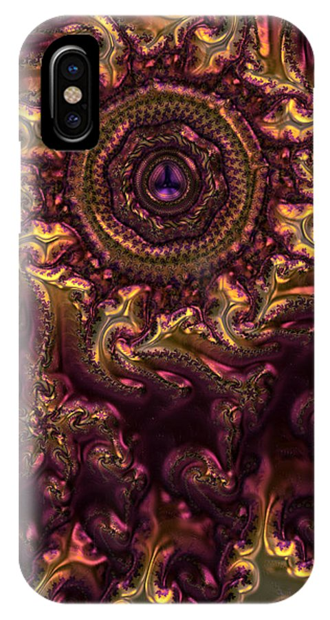Abstracts. Abstract IPhone X Case featuring the digital art February Jewel by Ranadeep