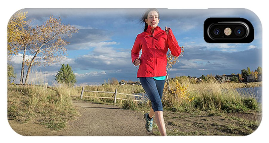 Healthy Lifestyle IPhone X Case featuring the photograph Female Runner In Colorado by Alexandra Simone