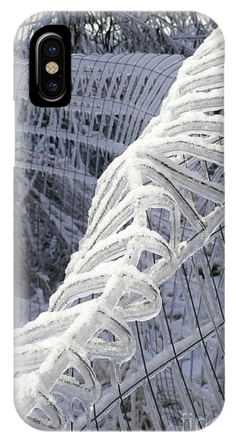 Ice Storm IPhone X Case featuring the photograph Fence Iced by Betsy Cotton