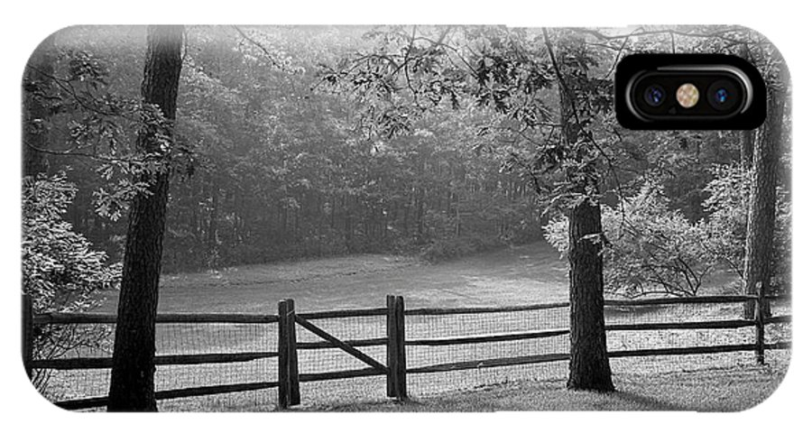 Black & White IPhone Case featuring the photograph Fence by Tony Cordoza