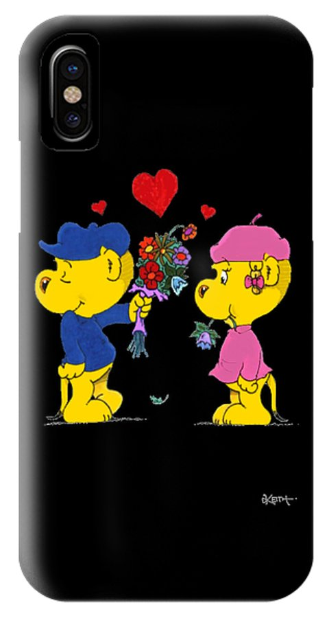 Ferald IPhone Case featuring the drawing Ferald And Sahsha by Keith Williams