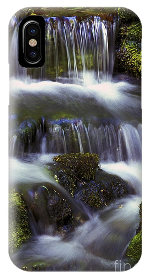 Water IPhone X Case featuring the photograph Fern Falls - 31 by Paul W Faust - Impressions of Light