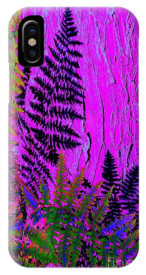 Forest IPhone X Case featuring the photograph Fern Shadows by Ann Johndro-Collins