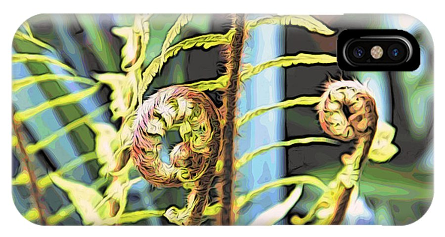 Ferns IPhone X / XS Case featuring the photograph Fern Twirls by Alice Gipson