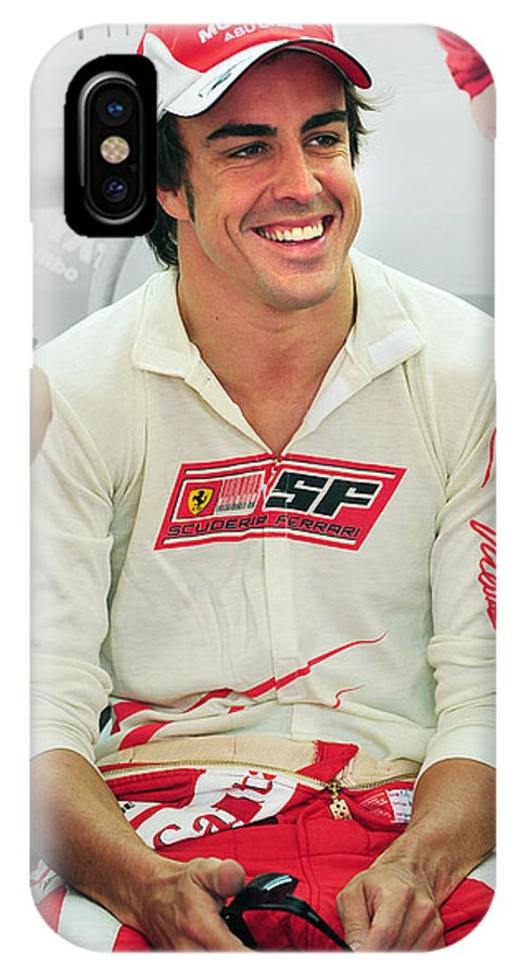 Formula One IPhone X Case featuring the photograph Fernando Alonso by Rafa Rivas