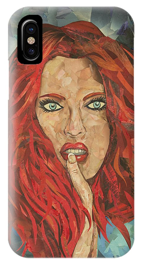 Women IPhone X Case featuring the mixed media Ferox / Fierce by Travis Radcliffe