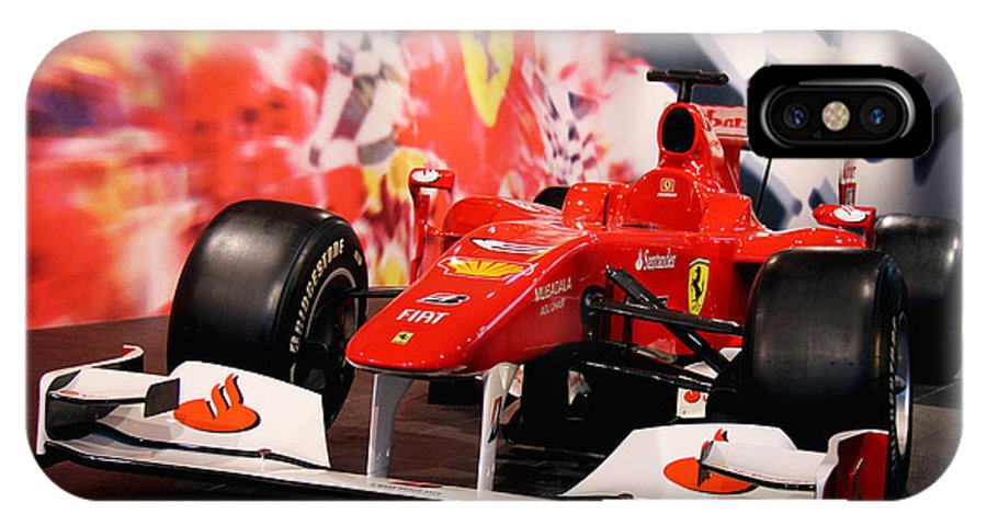 Ferrari IPhone X Case featuring the photograph Ferrari by Sanjeewa Marasinghe