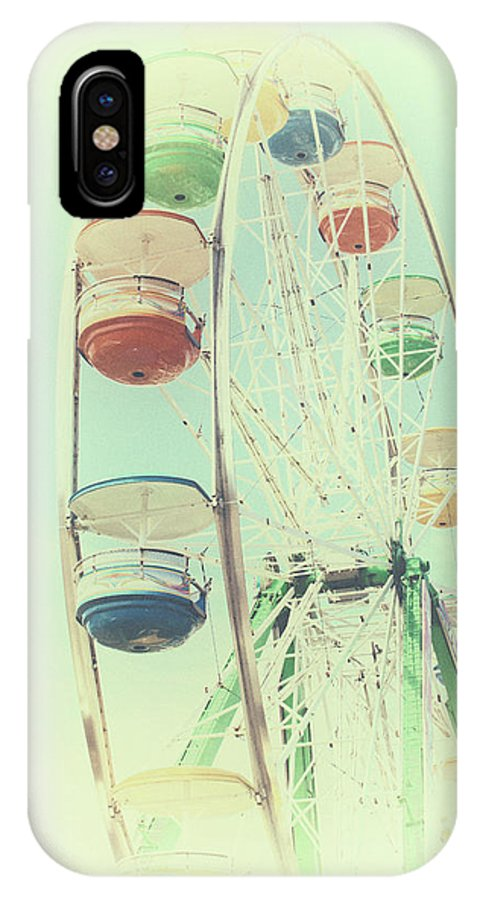 Ferris Wheel IPhone X Case featuring the photograph Ferris by Karol Livote