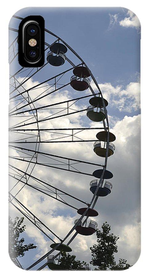 Ferris Wheel In The Sky IPhone X Case featuring the photograph Ferris Wheel In The Sky by Terry DeLuco