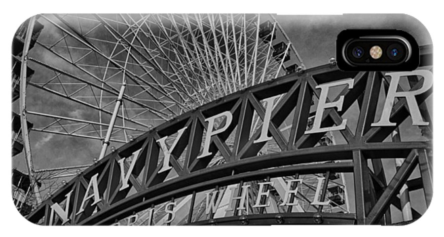Chicago IPhone X Case featuring the photograph Ferris Wheel Navy Pier by Mike Burgquist