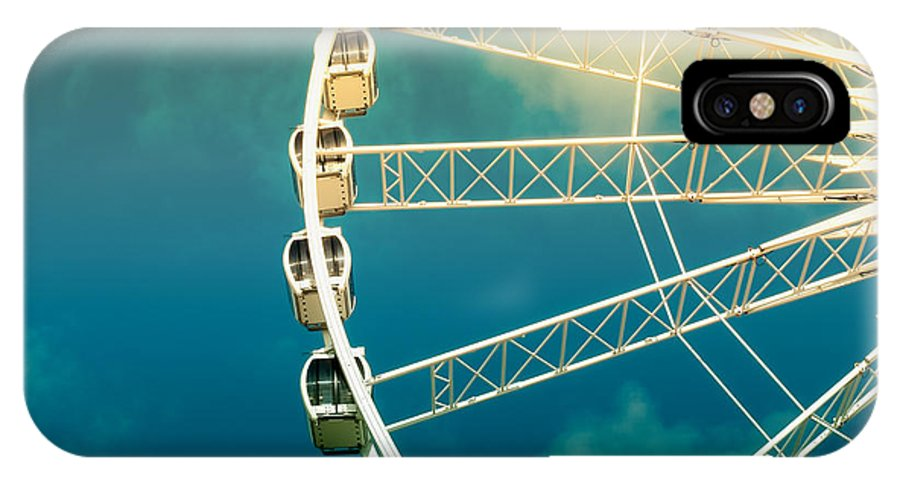 Activity IPhone X Case featuring the photograph Ferris Wheel Old Photo by Jane Rix