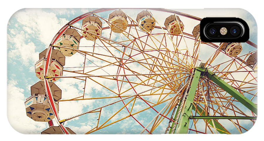 Carnival IPhone X Case featuring the photograph Ferris Wheel by Sylvia Cook