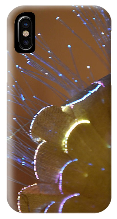 Digital Art IPhone X Case featuring the photograph Fiber Optic 3 by Stephan Pabst