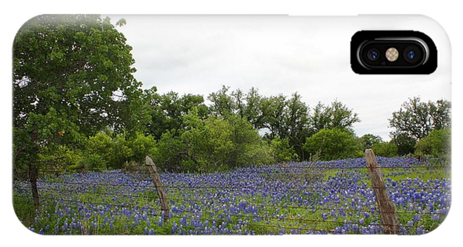 IPhone X Case featuring the photograph Field Of Bluebonnets by Chandra Barret