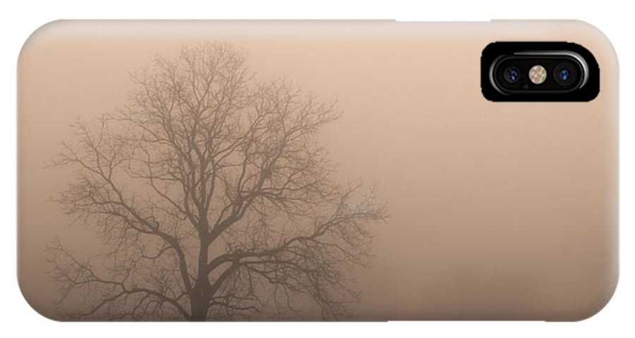 Field Of Fog IPhone X Case featuring the photograph Field Of Fog by Rachel Cohen