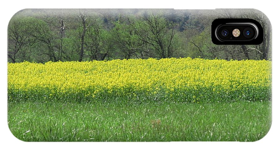 Nature IPhone X Case featuring the photograph Field Of Yellow by Anita Adams
