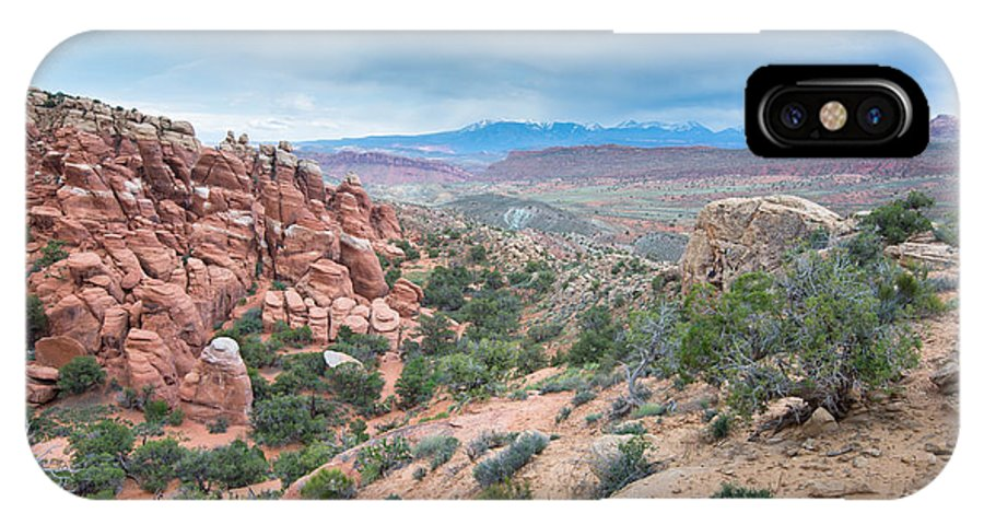 Adventure IPhone X Case featuring the photograph Fiery Furnace Viewpoint - La Sal Mountains - Arches National Park - Ut by Steve Lagreca