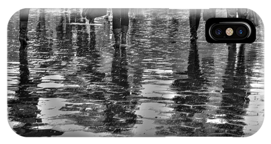 Rain IPhone X Case featuring the photograph Fifty-six Legs by David Bearden