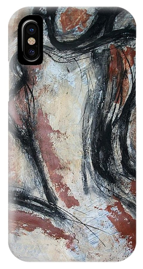 Original IPhone X Case featuring the painting Figure 4 - Nudes Gallery by Carmen Tyrrell