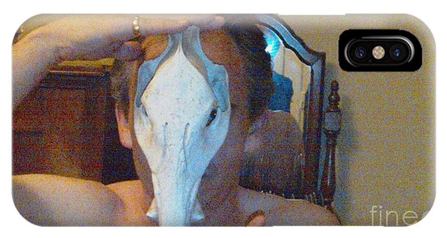 Figure Animal Skull 1 12 2011 IPhone X Case featuring the photograph Figure Animal Skull 1 12 2011 by Feile Case