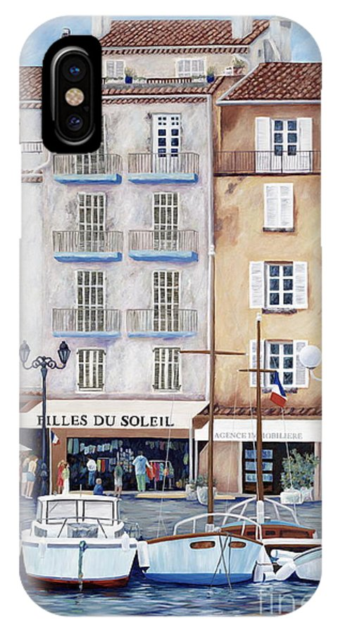 St. Tropez IPhone Case featuring the painting Filles Du Soleil by Danielle Perry