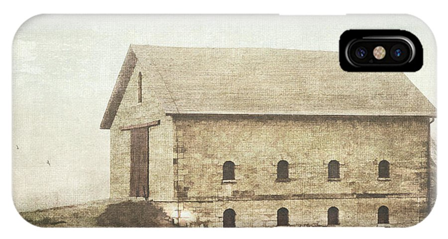 Barn IPhone X Case featuring the photograph Filley Stone Barn by Pam Holdsworth
