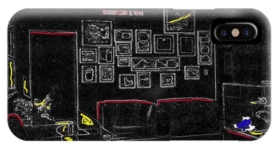 Film Homage Tora Tora Tora 1970 Uss Arizona Memorial U Of A 1985-2008 Color Drawing Texture Added IPhone X Case featuring the photograph Film Homage Tora Tora Tora 1970 Uss Arizona Memorial U Of A 1985-2008 by David Lee Guss