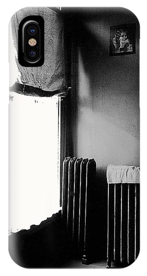 Film Noir Allan Ladd Laird Cregar This Gun For Hire 1942 Interior Antlers Hotel Victor Colorado 1971 IPhone X Case featuring the photograph Film Noir Allan Ladd Laird Cregar This Gun For Hire 1942 Interior Antlers Hotel Victor Colordo 1971 by David Lee Guss