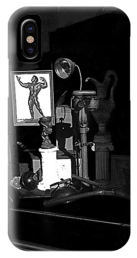 Film Noir Richard Widmark Night And The City 1950 1 Johnny Gibson Health & Gym Equipment Tucson Arizona 1982-2008 IPhone X Case featuring the photograph Film Noir Richard Widmark Night And The City 1950 1 Johnny Gibson Health And Gym Equipment Tucson by David Lee Guss