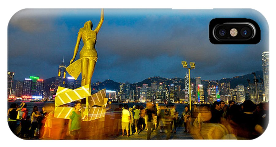 Hong Kong IPhone X Case featuring the photograph Film Statue At Avenue Of Stars by Hisao Mogi