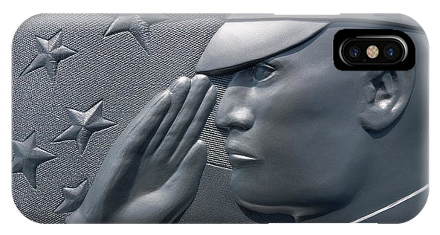 Military Memorial IPhone X Case featuring the photograph Final Salute by Wolfgang Hauerken