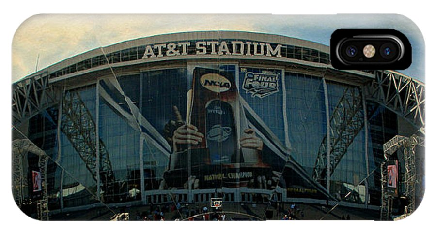 Final Four IPhone X Case featuring the photograph Finals Madness 2014 At Att Stadium by Stephen Stookey