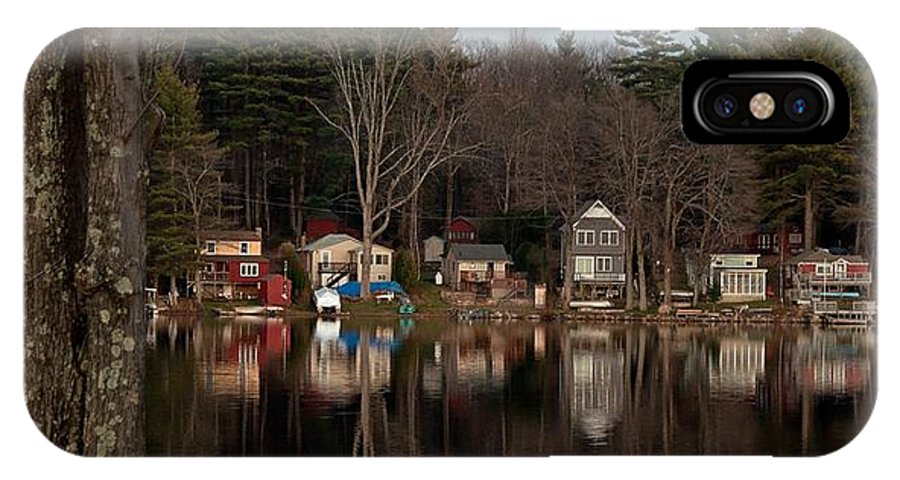 Finn Park IPhone X Case featuring the photograph Finn Village On Demond Pond - Rutland Massachusetts by John Black