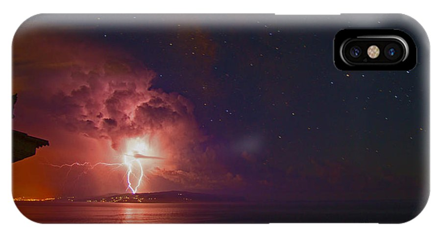 Nature IPhone X Case featuring the photograph Fire From The Skies by Martyn Green