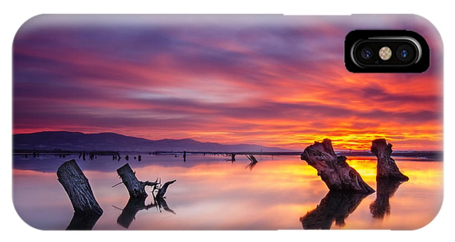 Landscape IPhone X Case featuring the photograph Fire In The Sky by Andrey Trifonov
