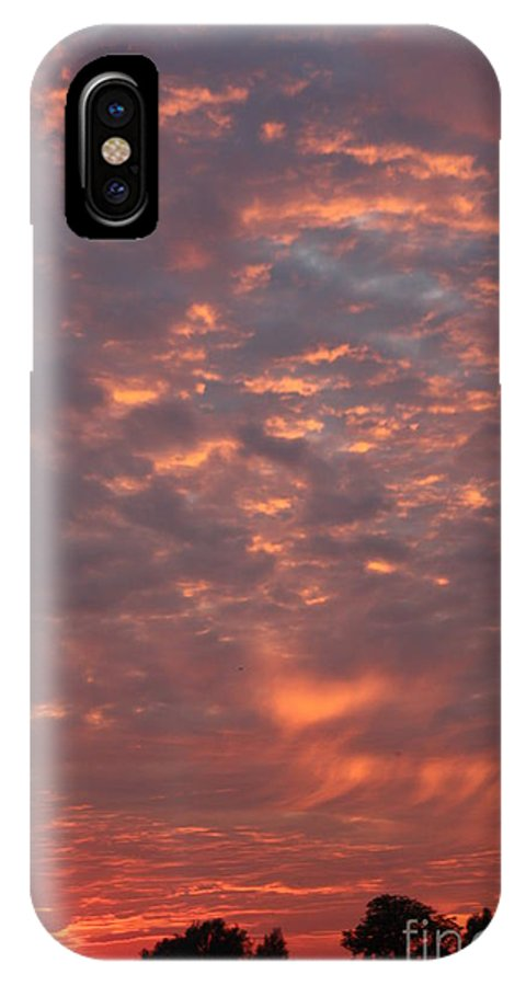 Sunset IPhone X Case featuring the photograph Fire In The Sky by Linsey Williams