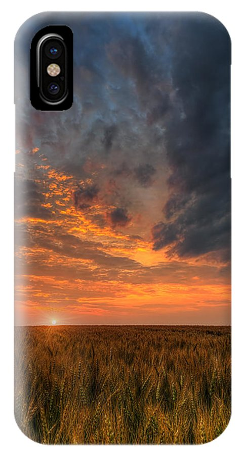 Fire In The Sky IPhone X Case featuring the photograph Fire In The Sky by Nebojsa Novakovic