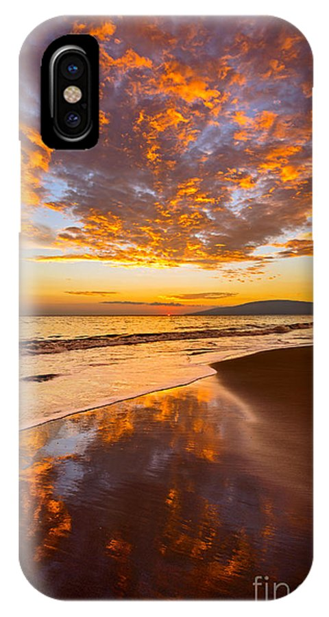 Beach IPhone X Case featuring the photograph Fire Over Lahaina by Jamie Pham