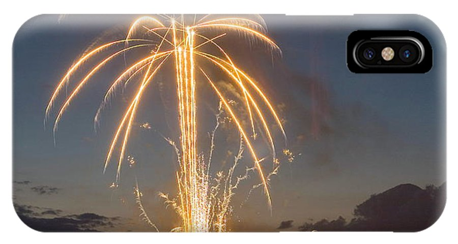 Fireworks IPhone X Case featuring the photograph Fire Tree by Devinder Sangha