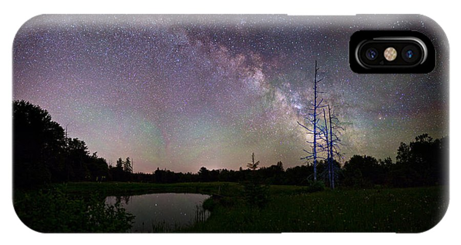 Fireflies IPhone X Case featuring the photograph Fireflies Under The Stars by Brent L Ander