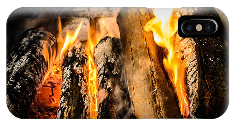 Fireplace IPhone X Case featuring the photograph Fireplace II by Marco Oliveira