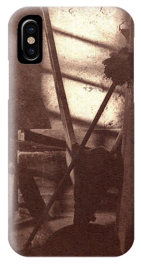 Alternative Process Art IPhone X / XS Case featuring the photograph Fireplace by Scott Wittenburg
