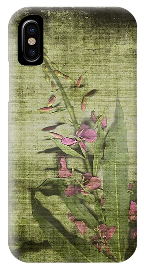Fireweed IPhone X Case featuring the painting Fireweed - Featured In 'comfortable Art' Group by Ericamaxine Price