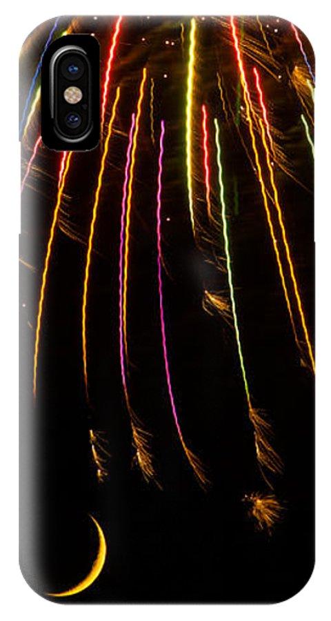 Art IPhone X Case featuring the photograph Firework Indian Headdress by Darryl Dalton